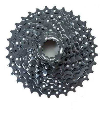 Cassete Catraca Sunrace M55 8v 11/32d Preto Bicicleta Mtb