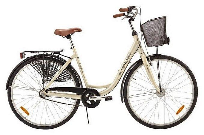 Bicicleta Aro 28 com 3 Velocidades City Elegance Svart