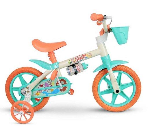 Bicicleta 12 Nathor Feminina Sea BCA/AZUL