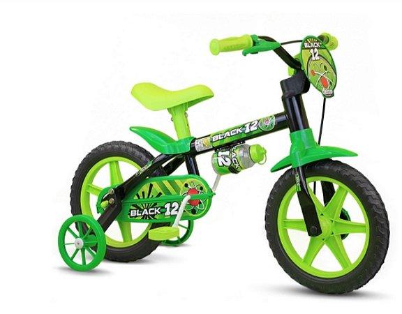 Bicicleta Aro 12 Nathor Masculina Black
