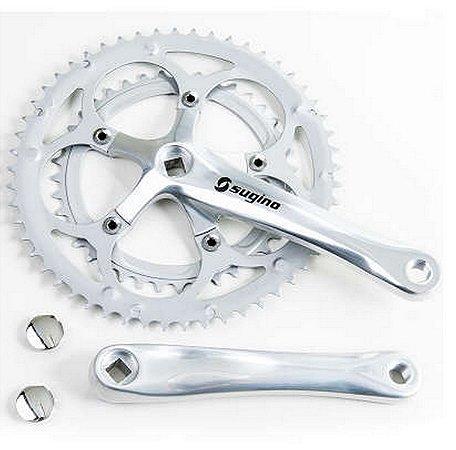 Pedivela 39/53 Dentes Speed Em  Alumínio Polido P/bicicleta
