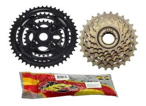 Relação De Machas 18 Marchas Kit Bike Catraca Corrente Coroa