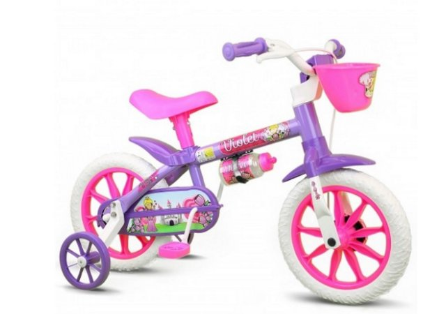 Bicicleta Aro 12 Nathor Feminina Violet
