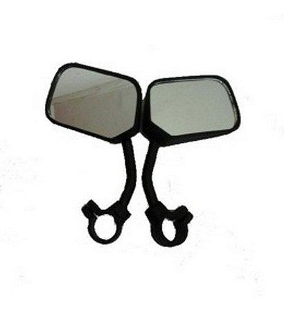 Retrovisor Espelho Curto Par P/bicicleta Retangular Allkar