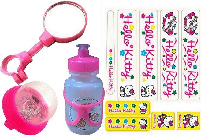 Kit Adesivo Hello Kitty Garrafinha Espelho Buzina Para Bike