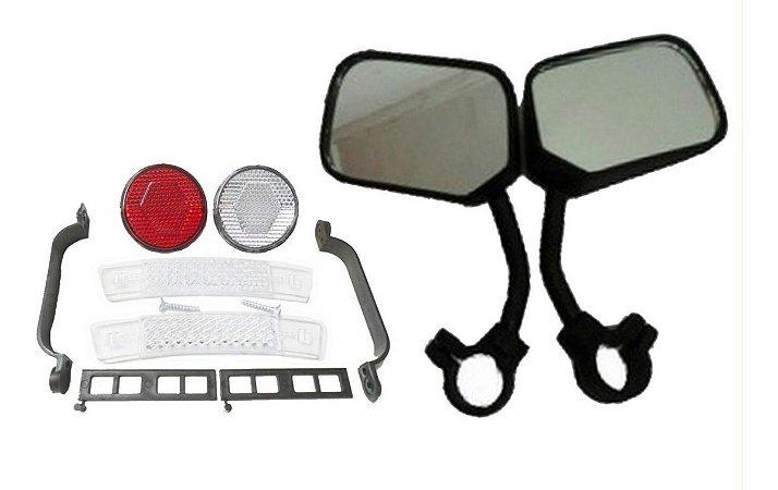 Acessórios Para Bike Pr Retrovisor Refletores Olho De Gato