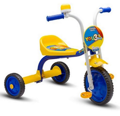 Triciclo Infantil  You Boy Azul/Amarelo Nathor
