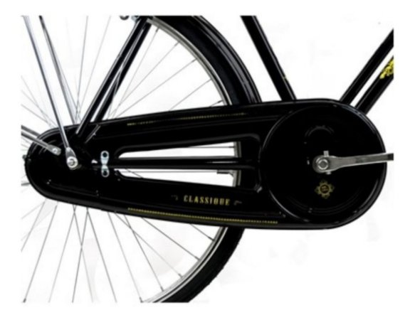 Cobre Corrente Envolvente Para Bicicleta Classic Preto Retrô