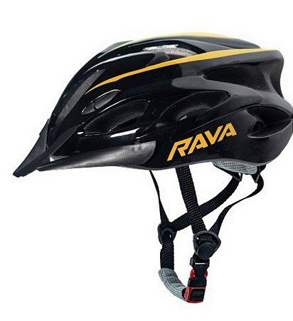 Capacete Rava Space New Com Viseira e Ventilação P/Ciclistas
