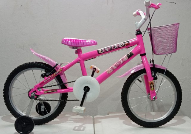 Bicicleta Aro 16 Feminina Wend Chiclete Com Cesta