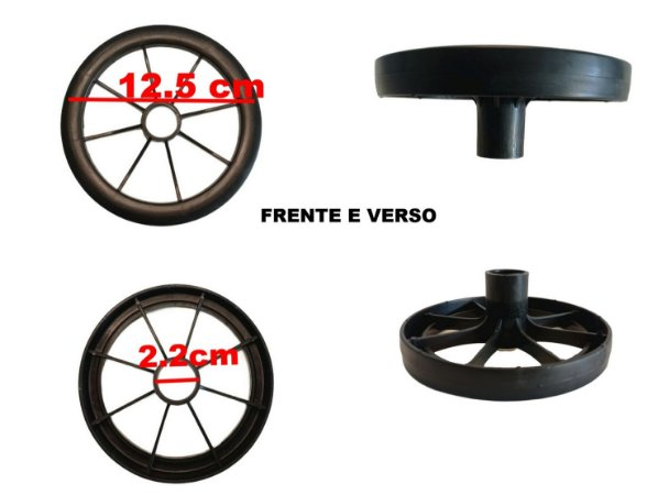 Rodinha Pvc Para Suporte Lateral Avulsa Bike Nathor Original