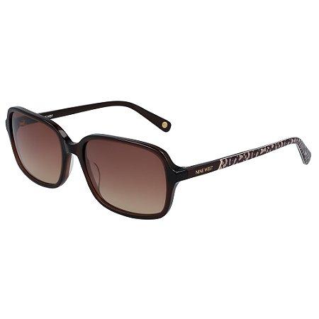 Óculos de Sol Nine West NW636S 210 - 57 - Marrom