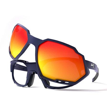 Armação de Óculos HB RUSH Performance Navy - Clip On