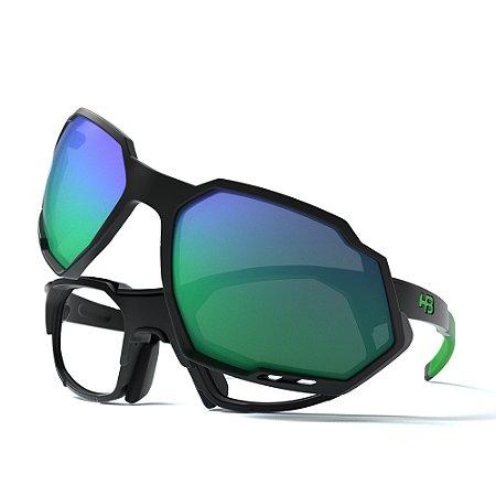 Armação de Óculos HB RUSH Performance Black Green - Clip On