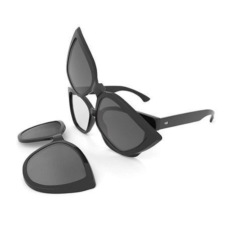 Armação de Óculos HB SWITCH 0403 Black - Clip On Polarizado - 51