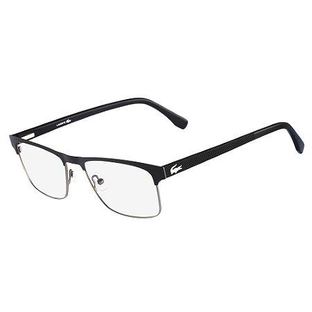 Armação de Óculos Lacoste L2198 001 - 55 - Preto