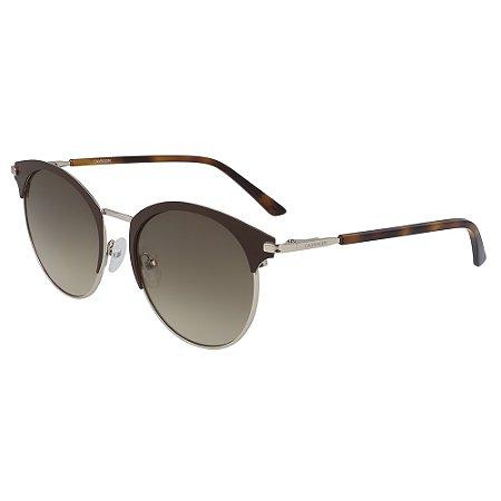 Óculos de Sol Calvin Klein CK19310S 200 - 52 - Marrom
