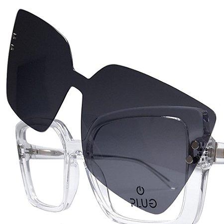 Óculos Clip On Plug 4602 - Lente Solar - 2 em 1
