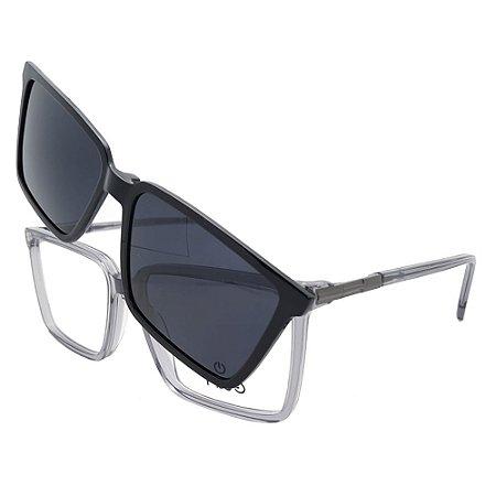 Óculos Clip On Plug 4688 - Lente Noturna / Cinza - 3 em 1