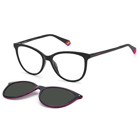 Armação para Óculos Polaroid PLD 6138/CS 807 / 53 - Clip-On