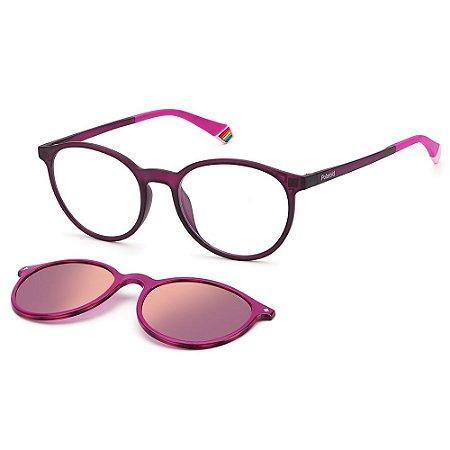 Armação para Óculos Polaroid PLD 6137/CS 35J / 52 - Clip-On