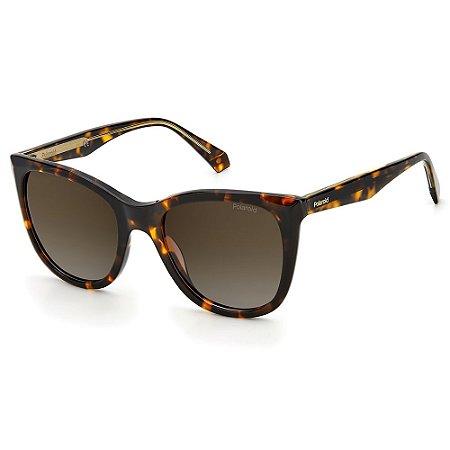 Óculos de Sol Polaroid PLD 4096/S/X / 52 Marrom - Polarizado