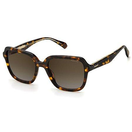 Óculos de Sol Polaroid PLD 4095/S/X / 53 Marrom - Polarizado