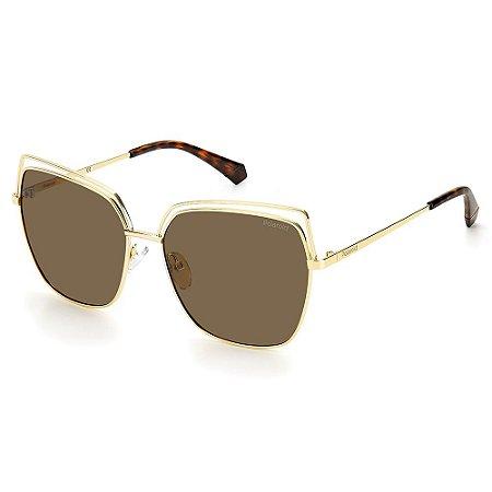 Óculos de Sol Polaroid PLD 4093/S / 59 Dourado - Polarizado