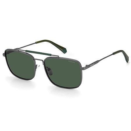 Óculos de Sol Polaroid PLD 2111/S / 57 - Prata - Polarizado