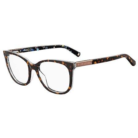 Armação para Óculos Moschino Love MOL564 086 / 53 - Marrom