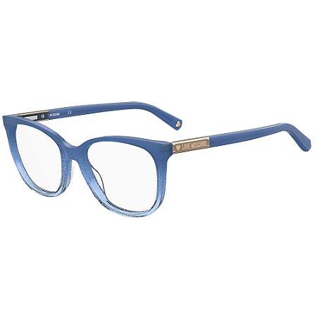 Armação para Óculos Moschino Love MOL564 PJP / 53 - Azul