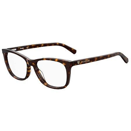 Armação para Óculos Moschino Love MOL557 086 / 54 - Marrom