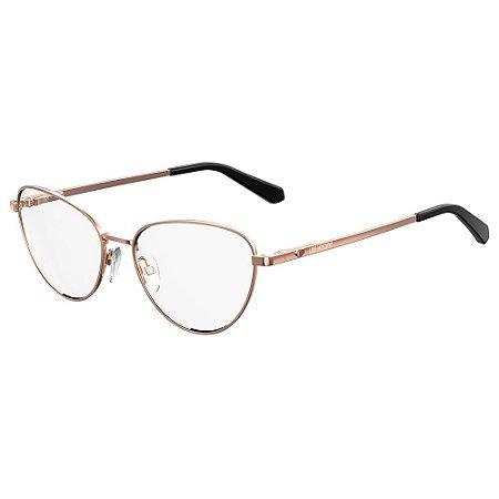 Armação para Óculos Moschino Love MOL551 DDB / 53 - Dourado