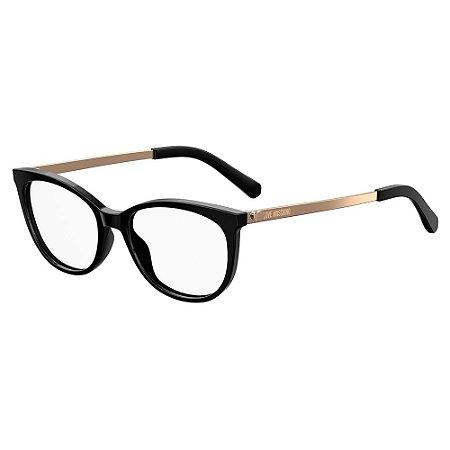 Armação para Óculos Moschino Love MOL534 807 / 52 - Preto