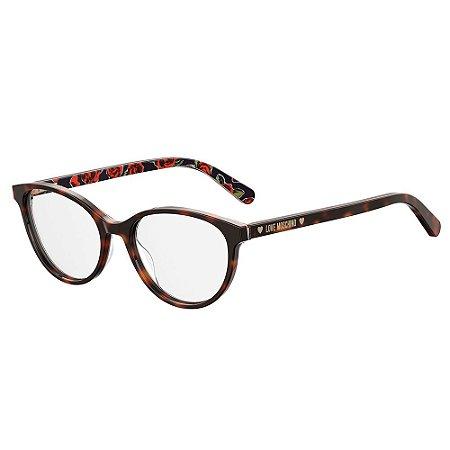 Armação para Óculos Moschino Love MOL525 05L / 52 - Marrom
