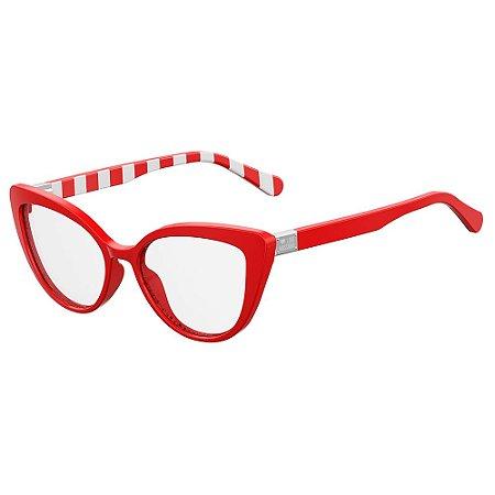 Armação para Óculos Moschino Love MOL500 C9A / 54 - Vermelho