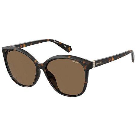 Óculos de Sol Polaroid Pld 4100/F/S 086 Polarizado - Marrom