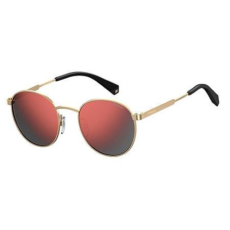 Óculos de Sol Polaroid Pld 2053/S NOA Polarizado - Dourado
