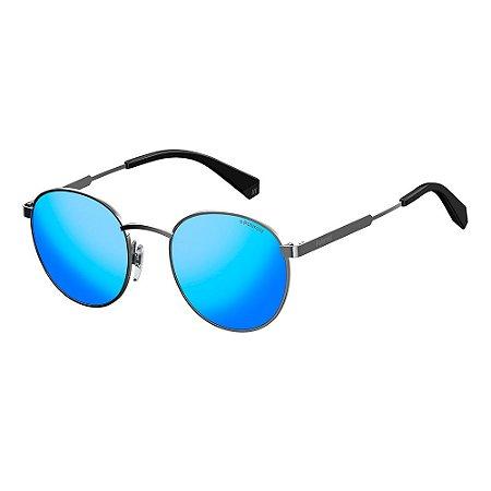 Óculos de Sol Polaroid Pld 2053/S 6LB Polarizado - 51 Cinza