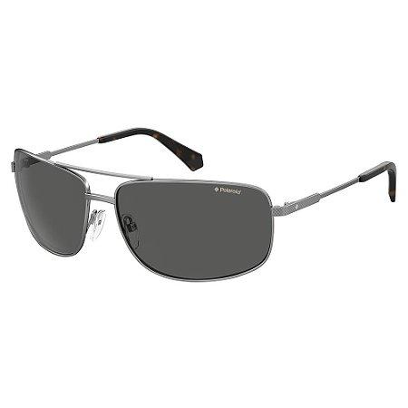 Óculos de Sol Polaroid Pld 2101/S KJ1 Polarizado - 63 Cinza