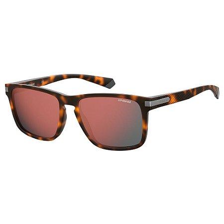 Óculos de Sol Polaroid Pld 2088/S N9P Polarizado - 55 Marrom