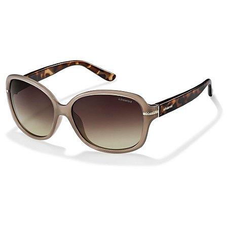 Óculos de Sol Polaroid P8419 10A 58LA  Polarizado - 58 Bege