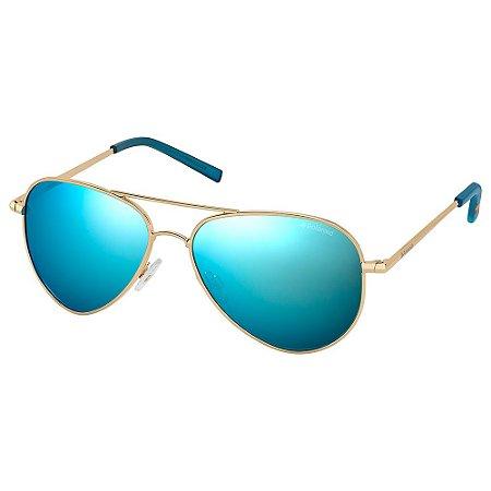 Óculos de Sol Polaroid Pld 6012/N J5G Polarizado - Dourado