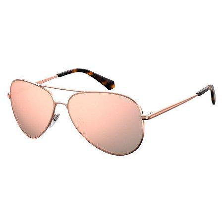 Óculos de Sol Polaroid Pld 6012 New DDB Polarizado - Dourado