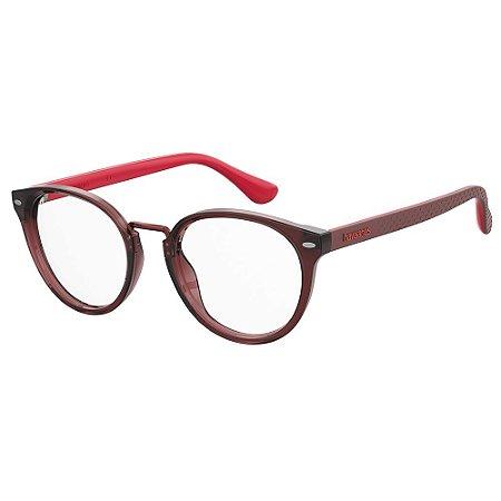 Armação para Óculos Havaianas Prainha/V LHF 4920 - 49 Vinho