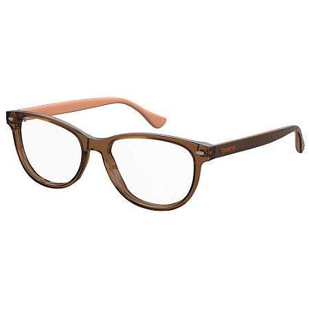 Armação para Óculos Havaianas Pontal/V WJG 5216 - 52 Marrom