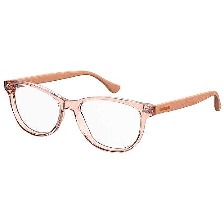 Armação para Óculos Havaianas Pontal/V 9R6 5216 - 52 Rosa