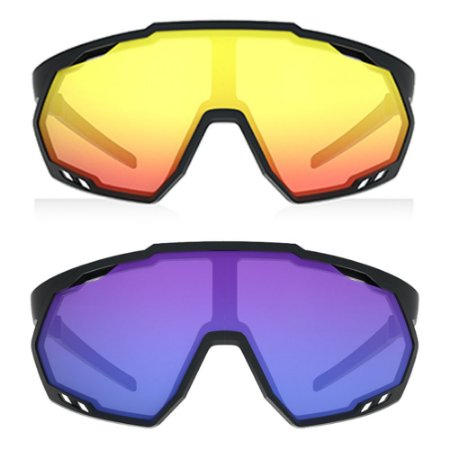 Óculos de Sol HB Spin Matte Black - 2 Lentes Performance