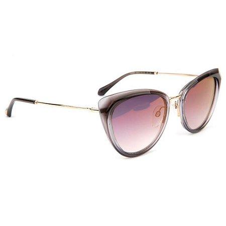Óculos de Sol Ana Hickmann AH9291 C01S/55 Preto Transparente/Dourado