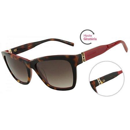 Óculos de Sol Ana Hickmann AH9155 G21/55 Tartaruga e Vermelho
